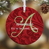 1-Sided Name Meaning Personalized Christmas Ornament- Small - 15146-1