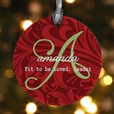 1-Sided Name Meaning Personalized Christmas Ornament - 15146-1