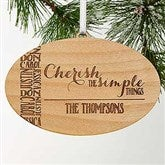 Cherish The Simple Things Personalized Ornament - 15160
