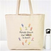 Hands Down Personalized Canvas Tote - 15167