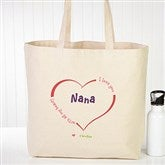 All Our Hearts Personalized Canvas Tote Bag - 15169