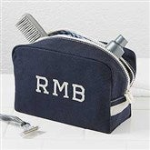 Classic Canvas Embroidered Monogram Travel Case - 15172-M