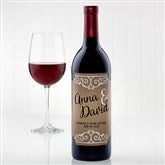 Rustic Chic Wedding Personalized Wine Bottle Labels - 15178-T