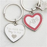 Key To My Heart Personalized Heart Key Ring - 15187