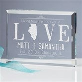 State of Love Personalized Keepsake - 15192