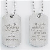 His & Hers Engraved Dog Tag Set Of Two - 15195