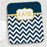 Preppy Chic Personalized Mouse Pad - 15200