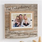 Love Never Ends Reclaimed Beachwood Personalized Frame