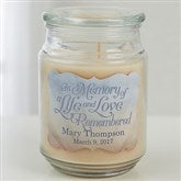 In Memory Personalized Scented Candle Jar - 15228