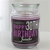 Vintage Birthday Personalized Scented Glass Candle Jar - 15229