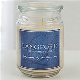 Heart Of Our Home Personalized Scented Glass Candle Jar - 15231