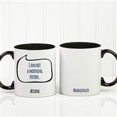 #hashtag Bubble Message Personalized Coffee Mug 11 oz.- Black - 15239-B