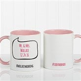 #hashtag Bubble Message Personalized Coffee Mug 11 oz.- Pink - 15239-P