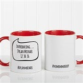 #hashtag Bubble Message Personalized Coffee Mug 11 oz.- Red - 15239-R