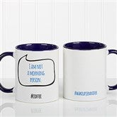 #hashtag Bubble Message Personalized Coffee Mug 11 oz.- Blue - 15239-BL