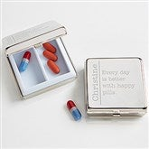 Daily Wit Personalized Silver Engraved Pill Box