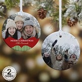 2-Sided Classic Holiday Personalized Photo Ornament-Small - 15248-2