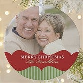 1-Sided Classic Holiday Personalized Photo Ornament-Large - 15248-1L