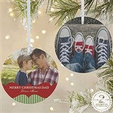 2-Sided Classic Holiday Personalized Photo Ornament-Large - 15248-2L