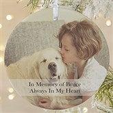 1-Sided Pet Photo Memories Photo Ornament- Large - 15249-1L