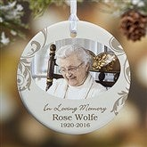 1-Sided In Loving Memory Personalized Memorial Photo Ornament - 15250-1