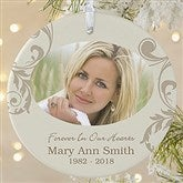 1-Sided In Loving Memory Personalized Memorial Photo Ornament-Large - 15250-1L