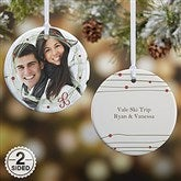 2-Sided Holiday Wreath Photo Ornament- Small - 15252-2