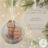 2-Sided Holiday Wreath Photo Ornament- Large - 15252-2L