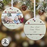 2-Sided Photo Memories Snowflake Personalized Ornament - 15253-2