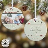 2-Sided Photo Memories Snowflake Personalized Ornament-Small - 15253-2