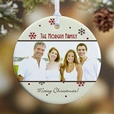 1-Sided Photo Memories Snowflake Personalized Ornament-Small - 15253-1
