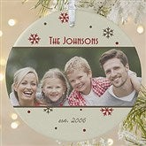1-Sided Photo Memories Snowflake Personalized Ornament-Large - 15253-1L