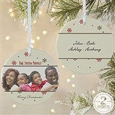 2-Sided Photo Memories Snowflake Personalized Ornament-Large - 15253-2L
