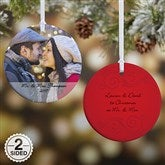 2-Sided Photo Sentiments Personalized Ornament - 15254-2