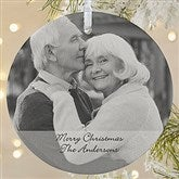 1-Sided Photo Sentiments Personalized Ornament-Large - 15254-1L