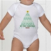Baby's 1st Christmas Tree Personalized Baby Bodysuit - 15258-CBB