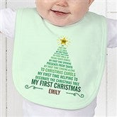 Baby's 1st Christmas Tree Personalized Bib - 15258-B