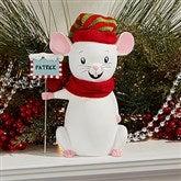 Merry Christmas Mice Keepsake - Adult Red Scarf - 15272-AR