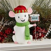 Merry Christmas Mice Keepsake - Adult Green Scarf - 15272-AG