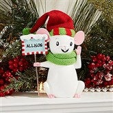 Merry Christmas Mice Keepsake - Child Green Scarf - 15272-CG