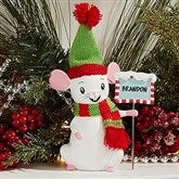 Merry Christmas Mice Keepsake - Child Striped Scarf - 15272-CS