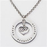 Circle of Love Personalized Name Necklace - 15277D