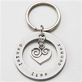 Circle of Love Personalized Name Keychain - 15281D