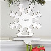 Engraved Nickel-Plate Stocking Holder - Snowflake - 15287-S