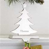 Engraved Nickel-Plate Stocking Holder - Christmas Tree - 15287-T