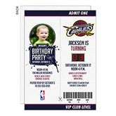 NBA Game Day Ticket Personalized Invitations - 15291