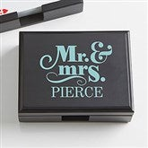 Happy Couple Personalized Wood Playing Card Box - 15296