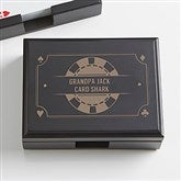 Poker Night Personalized Wood Playing Card Box - 15297