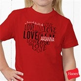 A Heart Full Of Love Personalized Hanes® Youth T-Shirt - 15300-T