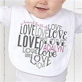 A Heart Full Of Love Personalized Bib - 15300-B
